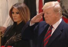 Donald Trump pays respects to George HW Bush at Washington memorial