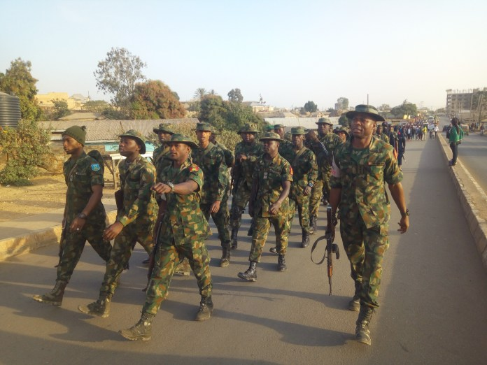 Military taskforce, youth's in Nigeria treks 8117 steps for peace