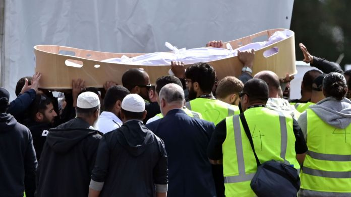 Father and son buried in first funerals for Christchurch mosque attack victims