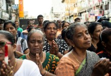 Tears and troops on the streets as Sri Lanka mourns suicide bomb dead