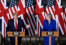 Trump vows 'phenomenal' trade deal with outgoing British PM