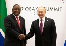 South Africa's Ramaphosa meets Putin at G20