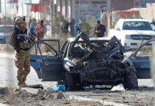At least 12, including children, killed in Kabul car bomb blast