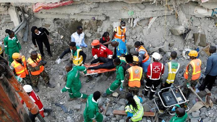 Skynewsafrica Kenya story building collapse: 10 dead, 20 inured, 30 missing - Police