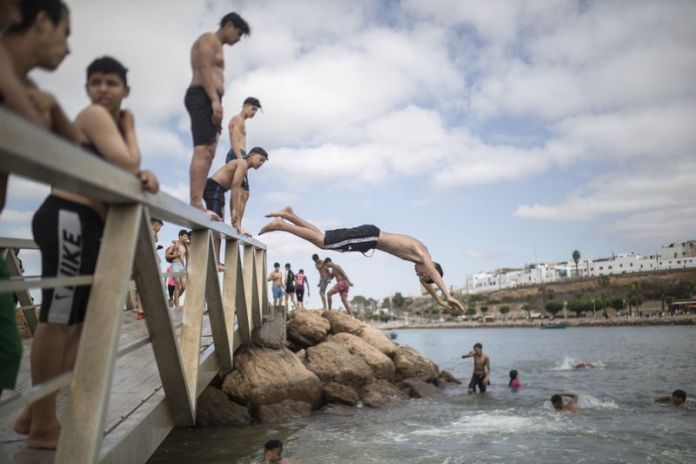 sky news africa Moroccans swim, sing, reconnects as lockdown lifts