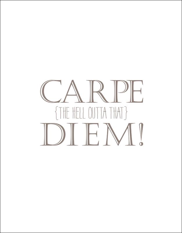 Graduation speech carpe diem