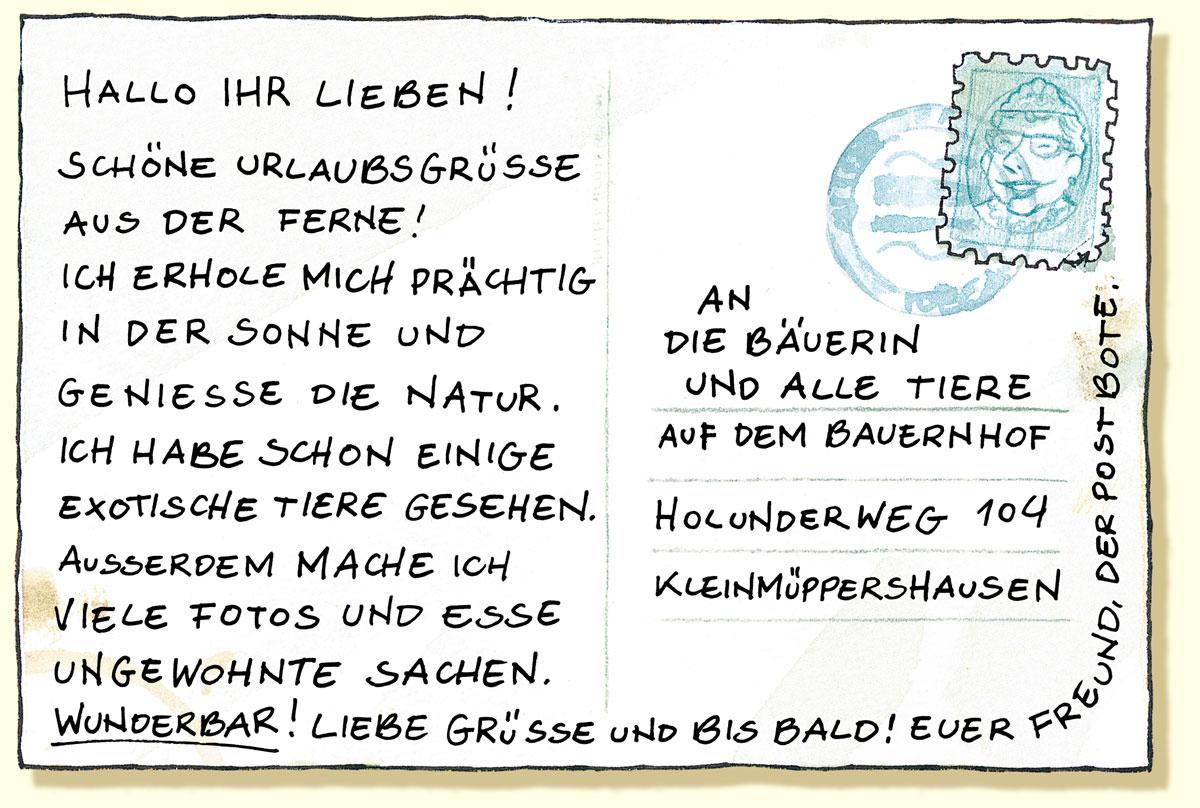 die Urlaubskarte  Cafe Deutsch