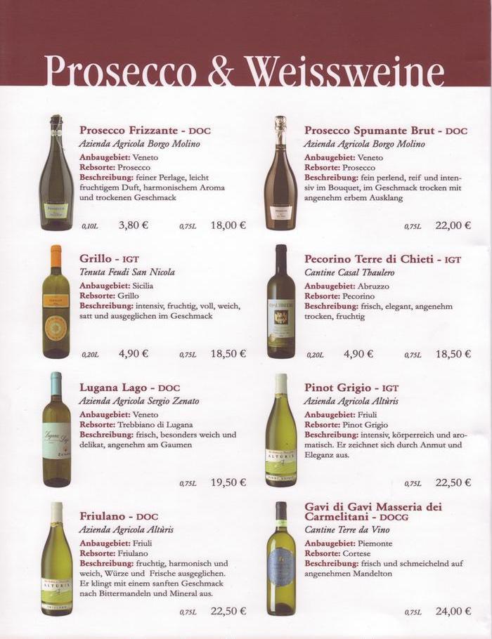 Weinkarte Vorlage Word