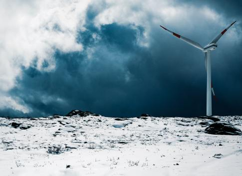 Wind Turbine in Snow in Portugal from Victor Pinto on Unsplash