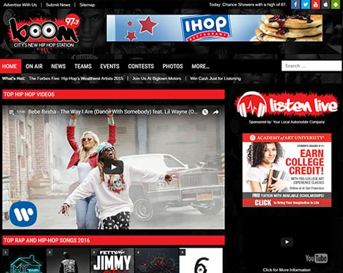 Bigtown Radio Station Website