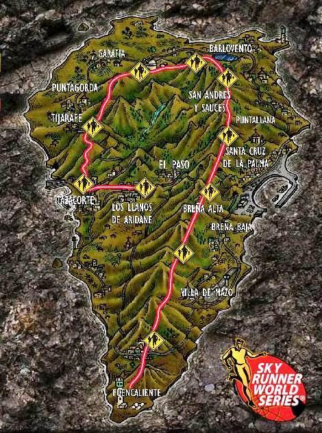 Trasa závodu obíhá hřebeny ostrova