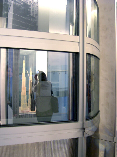 Full scale mockup of a facade panel of Burj Khalifa