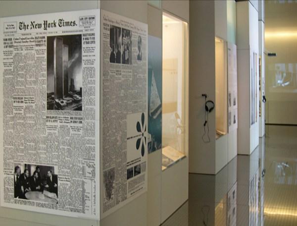 Gallery view of the exhibition GIANTS: The Twin Towers and the Twentieth Century