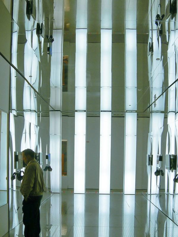 Installation view of Columns of Light