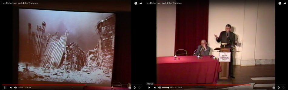 Les Robertson and John Tishman