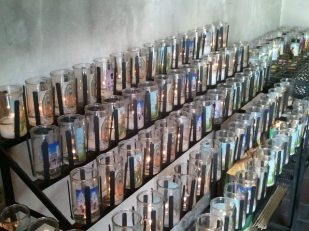 To preserve the church, smokeless candles are now used.