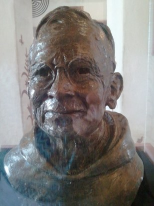 Bronze sculpture of Fr. Bonaventura Oblasser