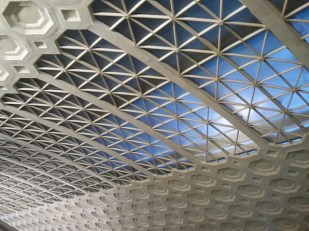 Gorgeous architectural detail in the ceiling