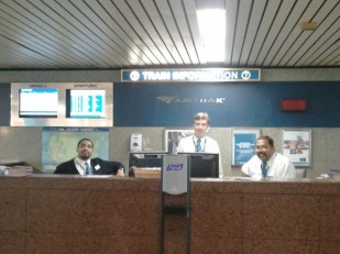 Friendly faces of Union Station Customer Service.
