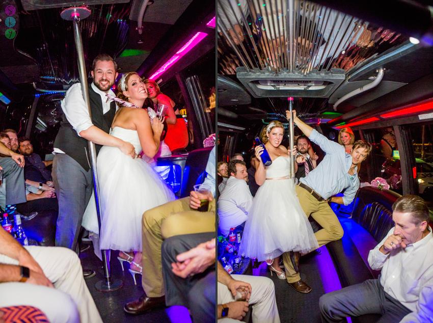 Las Vegas Strip Party Bus Wedding Photos  Lauren  Kit  Atlanta Wedding Photographers  Sky Simone