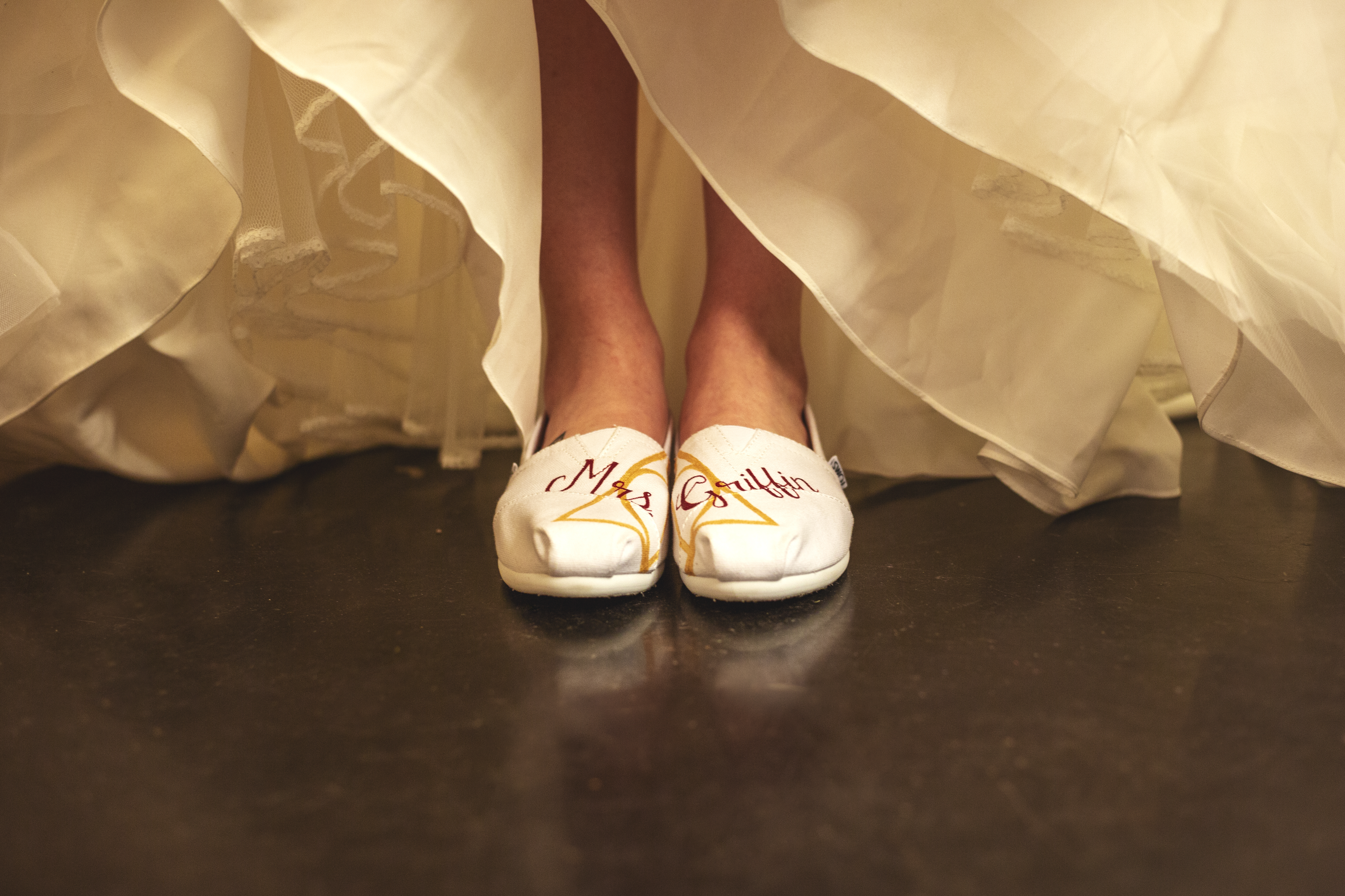 Custom comfortable shoes for the bride | Skys the Limit Production