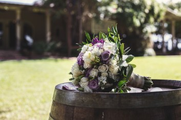 Photo of Wedding Bouquet taken by skys the limit production at the Bernhardt Winery in Plantersville