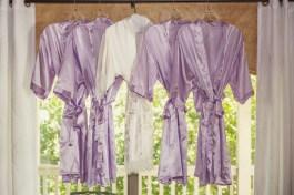 Bride and Bridesmaids Purple Robes at the Bernhardt Winrey in Plantersville, Texas.