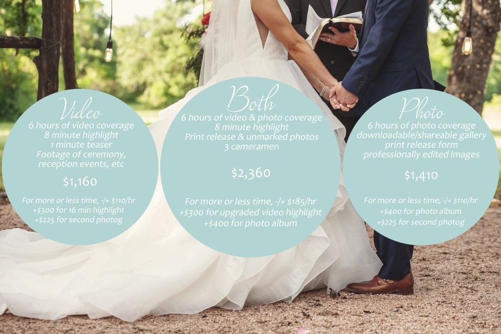 Wedding Photo and Videography Prices in Dallas Texas