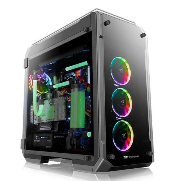 View 71 Water Tempered Glass PC Tower Chassis, Black