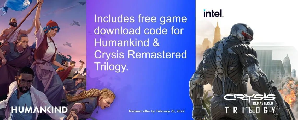 Humankind & Crysis Remastered Trilogy Free Game Voucher