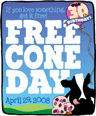 Ben & Jerry's Free Cone Day!