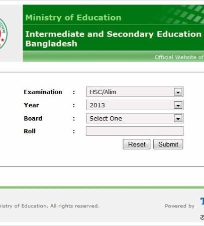 HSC Results 2014 educationboardresults gov bd