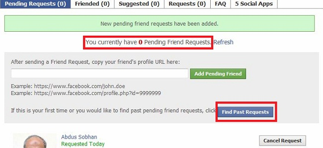 How to cancel friend request on Facebook?