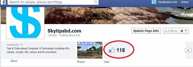 Facebook total like