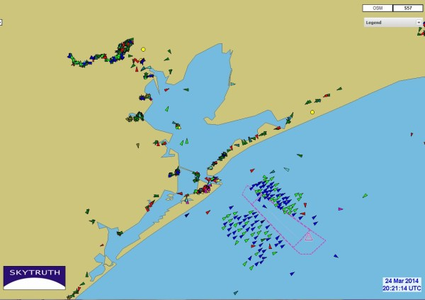 Oil Spill Shipping Backup In Gulf Of Mexico Skytruth