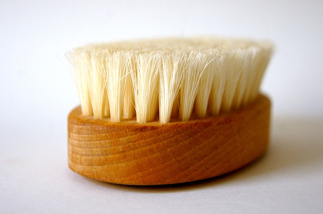 spring cleaning wooden brush