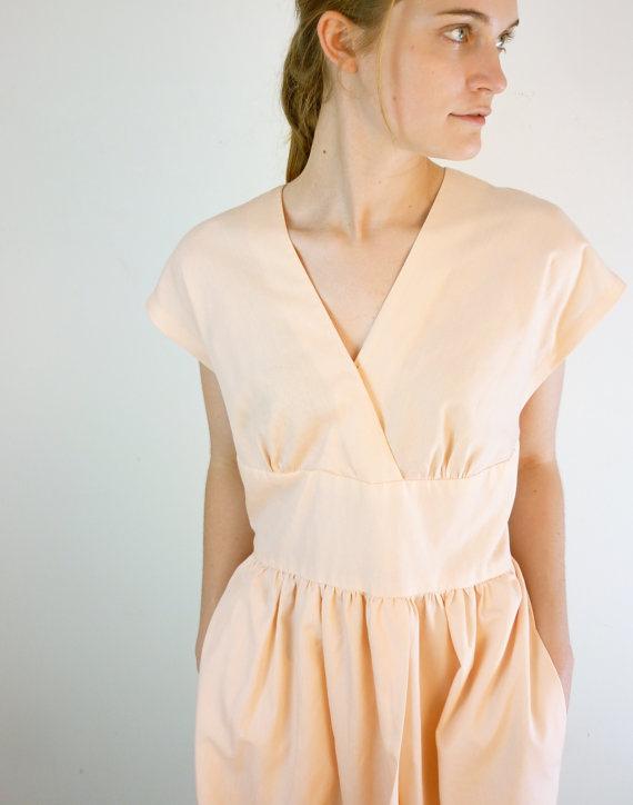 faux wrap vintage neckline