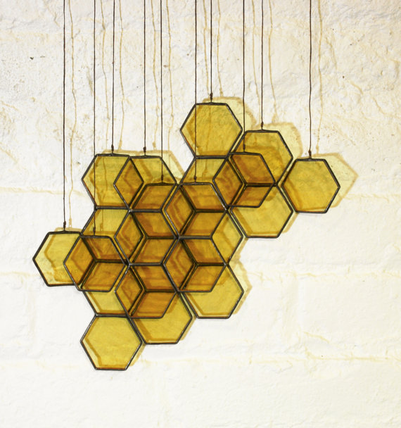 glass honeycomb drops