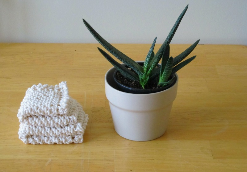 hand knitted washcloth facecloth by sky turtle