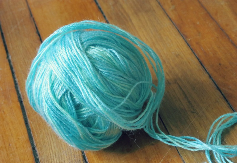 multi yarn chunky mint and aquamarine