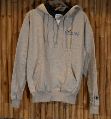 Grey men's live free and fly hoodie