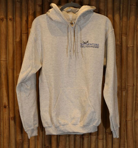 Mens grey Live Free and Fly hoodie in grey