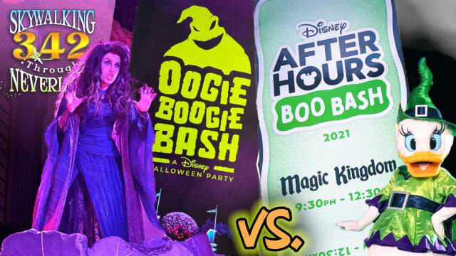 DCA's Oogie Boogie Bash and WDW's After Hours Boo Bash