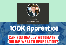 100k Apprentice Review - Richard Legg Training You To Get $100,000 Online a Year!