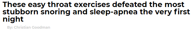 The Stop Snoring Exercise Program