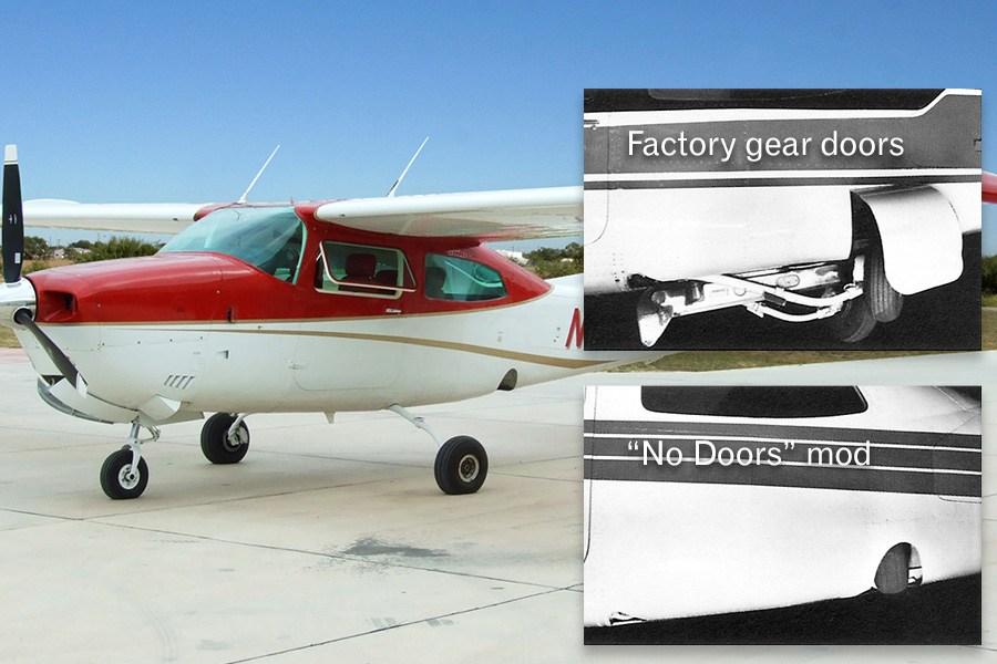 Sierra no-doors mod for Cessna 210