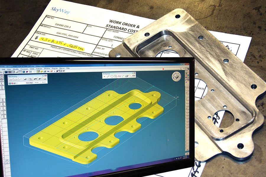 Aircraft parts manufacturing machining