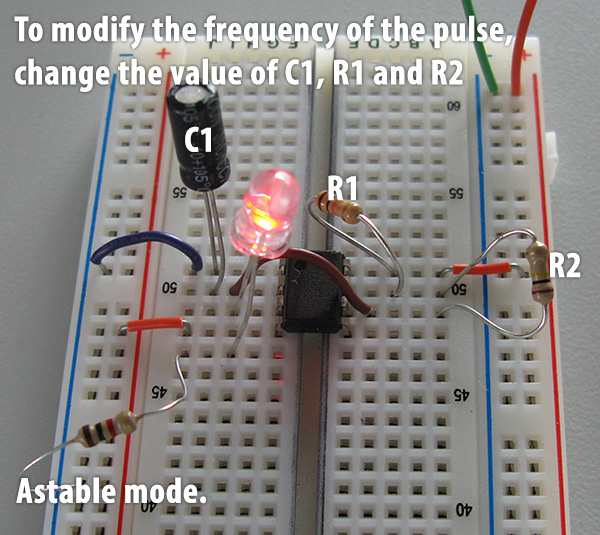 In This Example Of An Astable Circuit You See A Capacitor Resistor