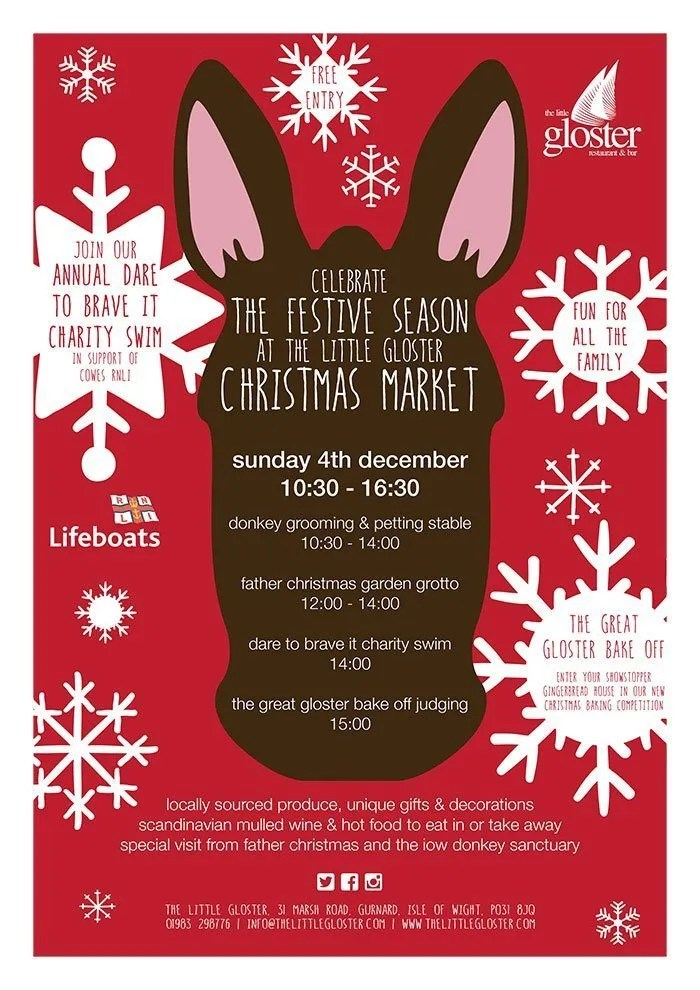 The Little Gloster Christmas Market 2016 poster