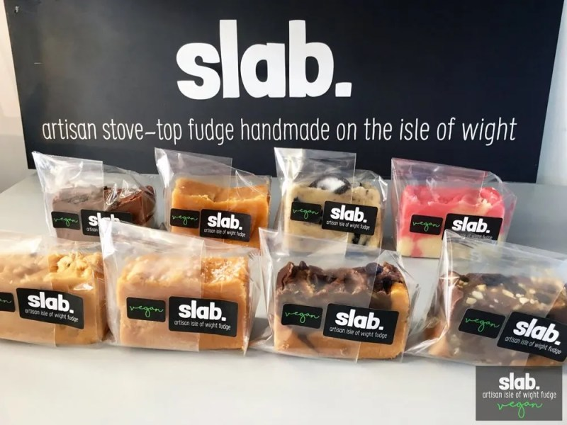 Slab Artisan Isle of Wight Fudge - Vegan Slabs Promo 3